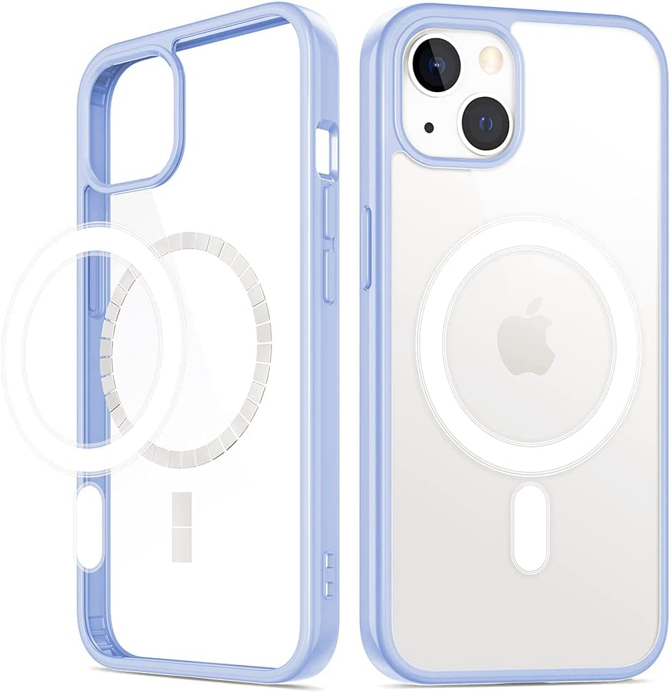 VEGO Compatible with iPhone 13 Case, Magnetic Case with Built in Magnets Compatible with MagSafe, Clear Hard PC Back Cover + Soft TPU Shockproof Protective Bumper Case for iPhone 13 6.1
