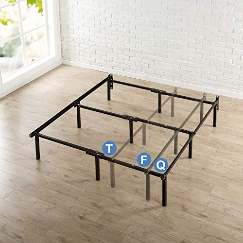 Zinus Michelle 12 Inch Compack Bed Frame, for Box Spring and Mattress Sets, Extra High so Bed Risers not needed, Fits Twin to Queen