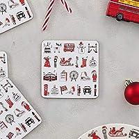London Christmas - Set of 4 Coasters