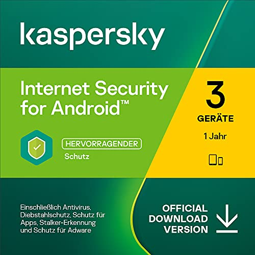 Kaspersky Internet Security for Android 2022 | 3 Gerät | 1 Jahr | Mobile Device | Aktivierungscode per Email