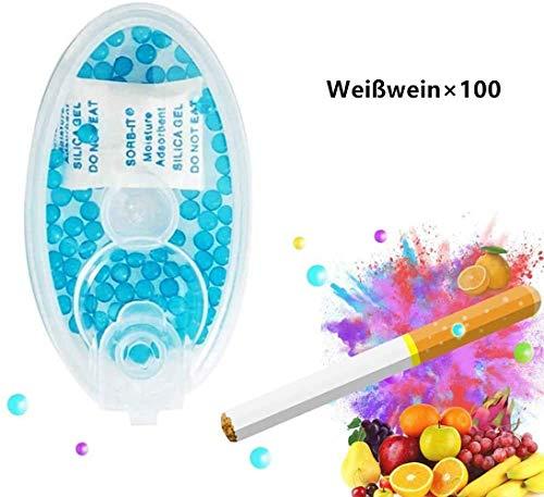 DBYF Menthol AROMATISCHE KAPSELN DIY Explosion Perlen Kugel Kapsel Zigarette Click Filter Aromakarte Card Aroma Infusion Flavour (100 Kapseln) Weißwein
