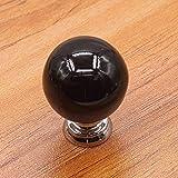 Pomo de cerámica 86XH para puerta de gabinete y cajones de gabinete y cajones, cinco colores para armario (color, negro, tamaño, 27 mm), verde, 27 mm PinBaiYa (color: blanco, tamaño: 34 mm)