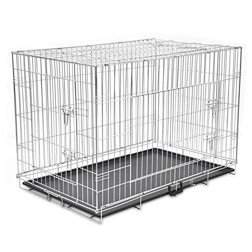 Zerone Jaula de Metal para Perros, Jaula Plegable de Perro con 3...