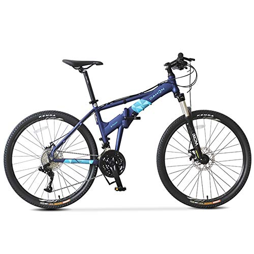 Nengge Hardtail MTB Mountainbike, 26 inch, 27 versnellingen, vouwbare fiets voor kinderen, met schijfremmen, mountainbike met volledige vering