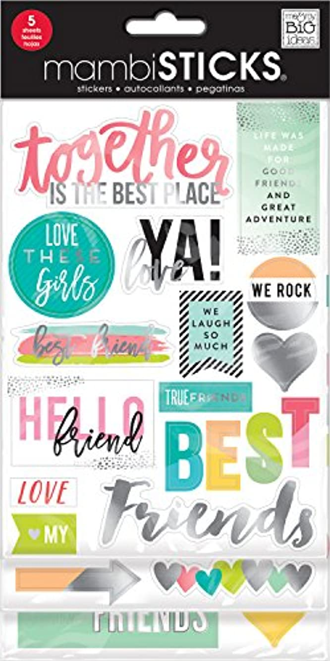 mambiSTICKS Friends Love these Girls Stickers, 5 Sheets