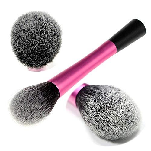 Roob muaj Maquillage Gris Pinceau Poudre Professionnelle Pinceau Fard à Joues Ombre à paupières Réparation Fibre Brosse 1 bâton Voyage (Color : Fuchsia)