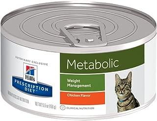 Hill's Prescription Diet Metabolic Weight Management Chicken Flavor Canned Cat Food 24/5.5 oz
