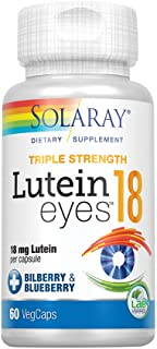 Solaray Triple Strength Lutein Eyes, 18 mg | Eye & Macular Health Support Supplement w/Naturally Occurring Lutein and Zeax...