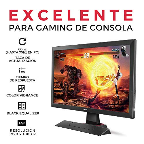 BenQ ZOWIE RL2455S 24 inch 1080p Gaming Monitor | 1ms 75Hz | Black Equalizer & Color Vibrance for Competitive Edge