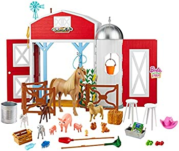 Barbie Sweet Orchard Farm Playset with Barn, 11 Animals & more