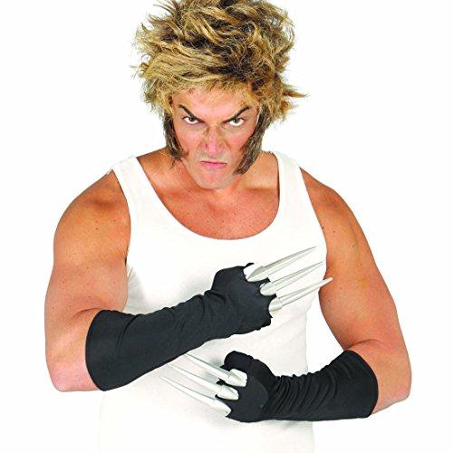 NET TOYS Mani con Artigli Guanti con Lame da Wolverine - Unghie Costume da Alieno Grinfie Halloween Accessorio Costume da Supereroe Gadget Guerriero Ninja