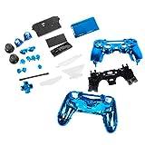 non-brand Funda Carcasa Completa de Botones Piezas de Respuesto para Mando Sony PS4 - Azul