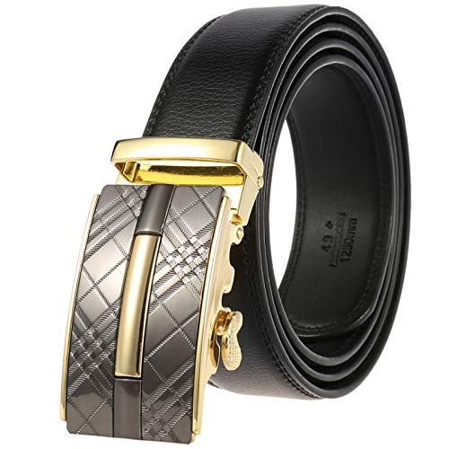 Xme Cinturón de hebilla automático para hombres del nuevo estilo, cinturón casual de negocios para hombres