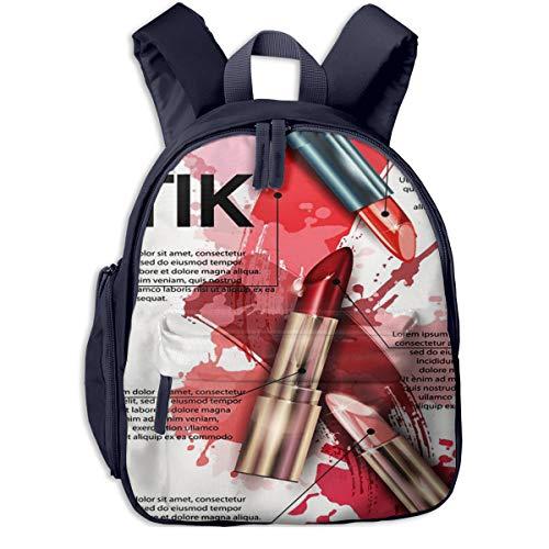 Kinderrucksack Kleinkind Jungen Mädchen Kindergartentasche Machen Sie Lipstick Beauty Cosmetics Leaflet Backpack Schultasche Rucksack