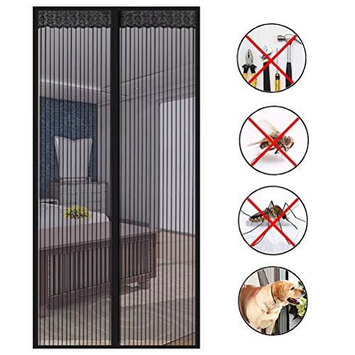 Fliegengitter balkontür, Auto Schließen Luft kann frei strömen,Insektenschutz Magnet Fliegenvorhang, Magnetische Adsorption, Faltbar, Säugling und Sommer müssen,for Türen/Patio,120 * 200cm