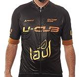 Manzur Cycling Design Maillot Relax Ciclismo Hombre // Textil en Carbono // Tecnología Última Generación Sanitazed // Tejido Italiano Especializado en Aerodinámica Deportiva