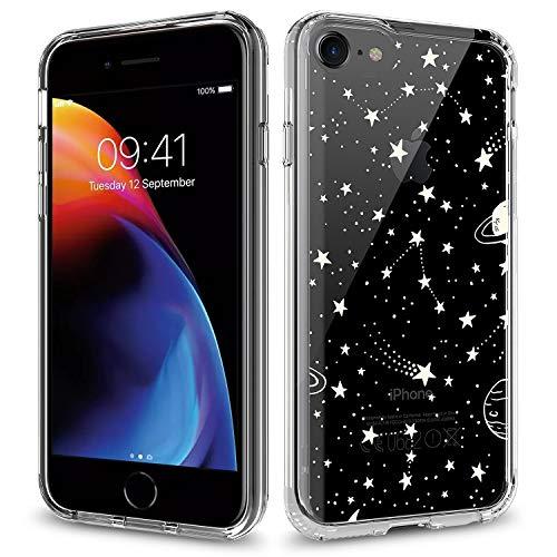 Townshop iPhone SE (2020) Case/iPhone 8 Case/iPhone 7 Case, Clear Design Shockproof Scratch Resistant Case for Apple iPhone SE (2020) / iPhone 8 / Apple iPhone 7- Universe