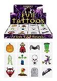 48 x Spooky Vampiro De Halloween Calabaza Murciélagos Infantil Falso Transferencias Tatuajes