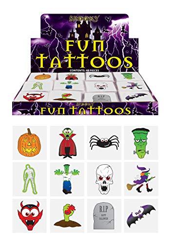 HENBRANDT 48 X Spooky Halloween Vampire Potiron Raquettes Enfants Fait Semblant Transferts Tatouages
