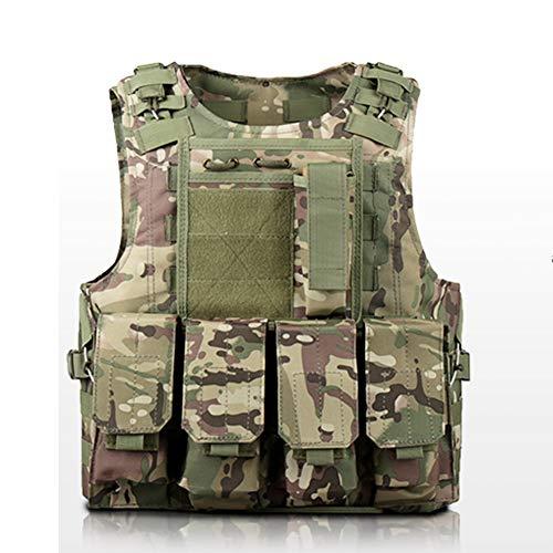 LXY&AI Gilet Tactique Militaire Extérieure - Airsoft Paintball Shooting Gilet - Pochette Détachable Outdoor Jungle Combat Gilet - Special Forces Tactical Vest,CP