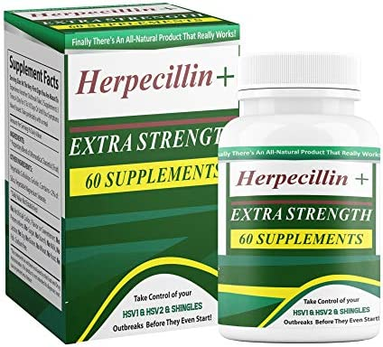 Herpecillin Plus Take Action Against HSV1 Cold Sores Fever Blisters HSV2 Genital Herpes Outbreaks product image