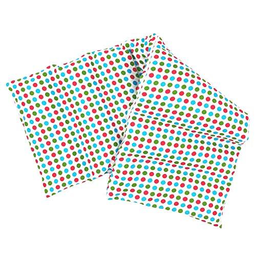 Aminata BALANCE Körnerkissen 60x20 cm Mikrowelle groß für Nacken, Schulter & Rücken Raps-Samen-Körner-Kissen Wärme-Kissen - Bunte Punkte - Motiv für Damen, Frauen & Mädchen - Abnehmbarer Bezug