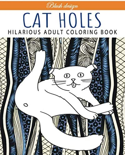 Cat Holes Hilarious Adult Coloring Book product image