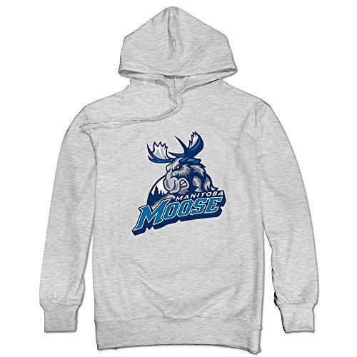 Sólo los hombres de Hockey John Albert Logo Manitoba Moose–Sudadera con capucha
