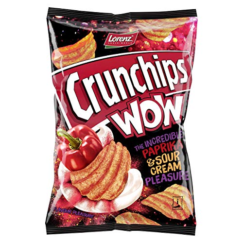 Lorenz Snack World Crunchips WOW Paprika & Sour Cream 110 g