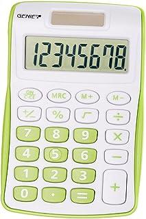 Genie 120 B 8-cijferige rekenmachine (Dual Power (Solar en batterij), compact design) 1 Stuk groen