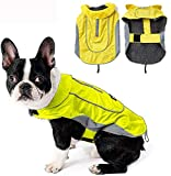 Morezi Dog Warm Coats Jackets Waterproof Coats with Harness Hole Puppy Coat for Small Medium Dogs - Yellow - M