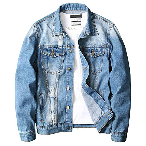 Distressed Denim Jackets for Men