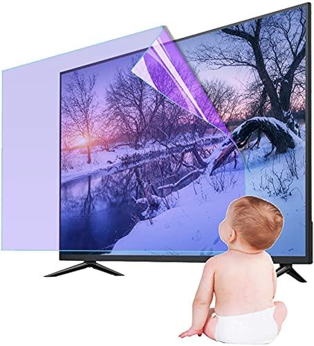 HSBAIS Protector de Pantalla de TV - Anti-rasguños antirreflejo para Monitor de 60 Pulgadas, película Protectora Película Antiarañazos para LCD, LED, 4K OLED & QLED HDTV Pantallas,55in
