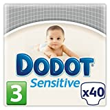 Dodot Sensitive Diapers, Size 3 (5 - 10 kg) - 40 Diapers