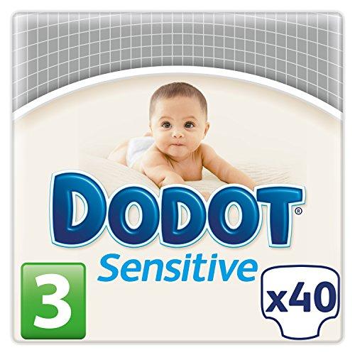 Dodot Pañales Sensitive, Talla 3 (5 - 10 kg) - 40 Pañales