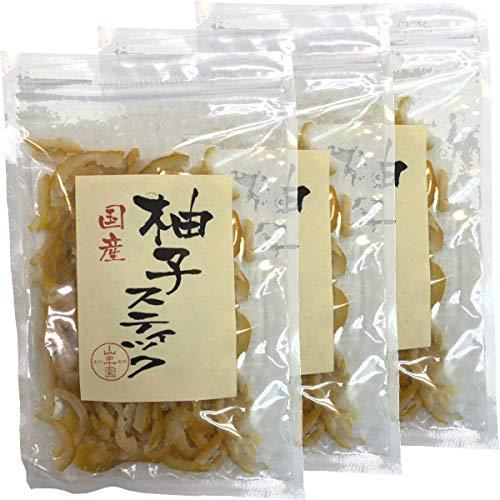 国産柚子スティック 100g×3袋セット 巣鴨のお茶屋さん 山年園