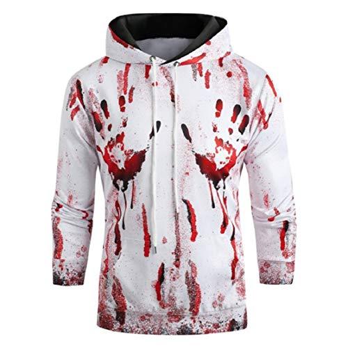 Bluelucon sweatshirt voor dames en heren, Halloween thema sweatshirt, skelet, hand, grappig festival, party, kleding, slim fit, horror kostuum