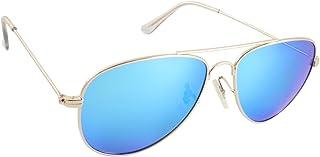 Islander Eyes Ibiza Polarized, Shiny Frame with Blue Mirror Lens, Gold, Blue Mirror