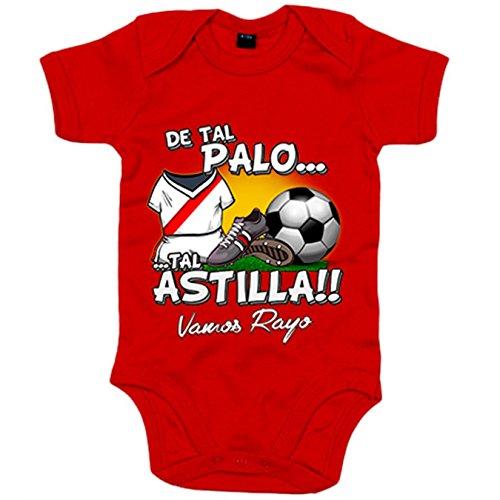 Body bebé De tal palo tal astilla Rayo Vallecano fútbol - Rojo, 6-12 meses