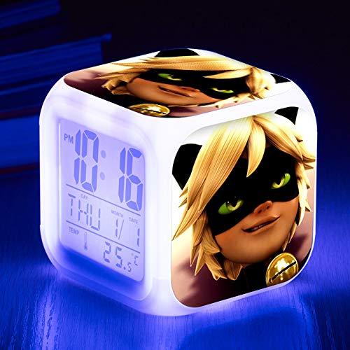 HHKX100822 Led Colorido Color-Cambio Despertador Reloj Ladybug Chica Despertador Silencio Pequeño Despertador 14