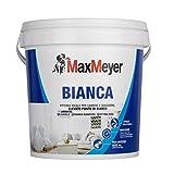 MaxMeyer Pittura  per interni Bianca Lavabile per camere e soggiorni BIANCO 4 L...