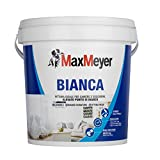 MaxMeyer Bianca - Pittura murale, Per per camere e soggiorni, Lavabile, Bianc0, 4 L