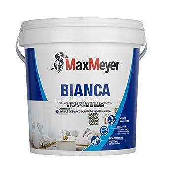Foto di MaxMeyer Bianca - Pittura murale, Per per camere e soggiorni, Lavabile, Bianc0, 4 L