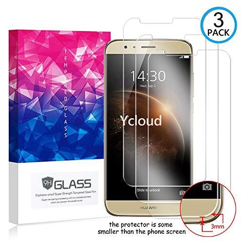 Ycloud [3 Pack] Protector de Pantalla para Huawei GX8,[9H Dureza/0.3mm],[Alta Definicion] Cristal Vidrio Templado Protector para Huawei GX8