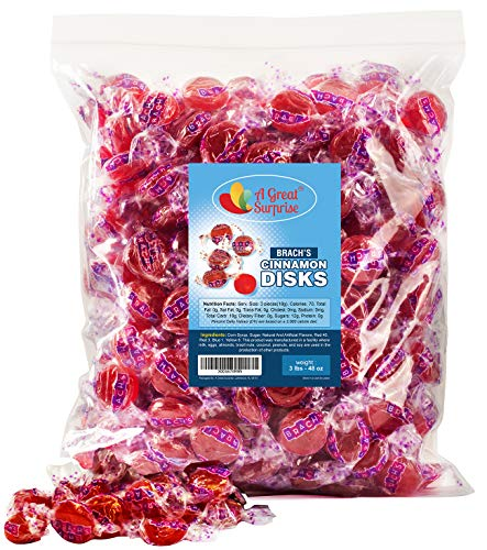 Brachs Cinnamon Candy - Brach's Cinnamon Hard Candy - Red Candy - 3 LB Bulk Candy