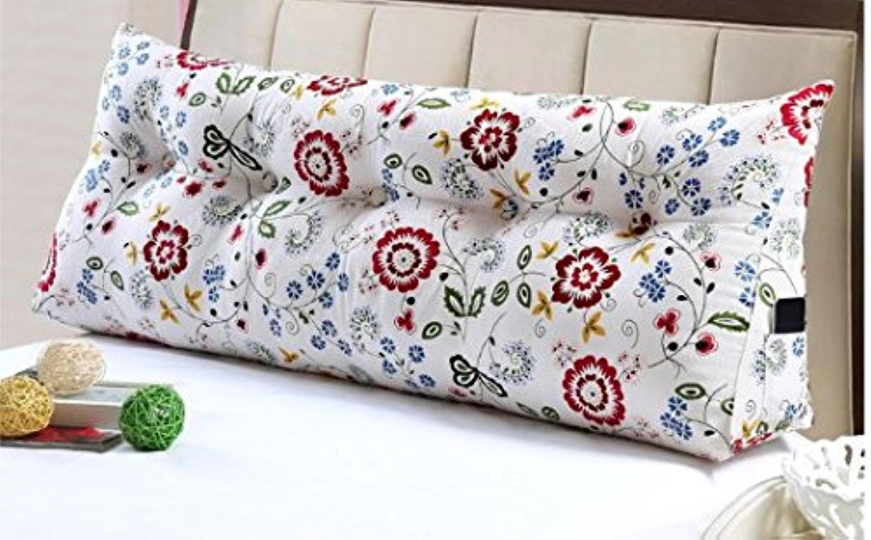 Dossier De Chevet coussins Triangle lit oreiller coussin coussin moelleux à double dossier canapé dossier (taille   100  20  50cm)