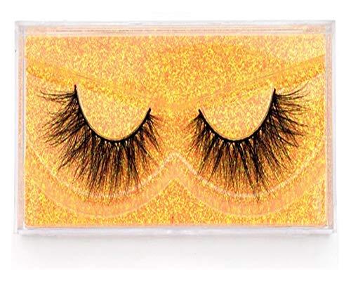 JINSUO DXXLD Mink Wimpern 100% Cruelty frei Handgemachte 3D Mink Lashes Vollbandwimpern weiche falsche Wimpern Make-up Lashes E11 (Color : Visofree 6D83)
