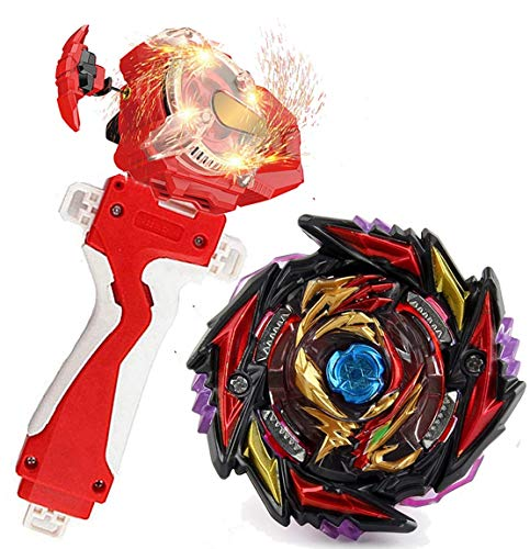 Sparking Launcher Bey Burst Evolution Turbo Blade Battling Tops String Launcher Grip B-170-1 Super King Death Diabolos 4T.Mr'1D Starter Set Metal Fusion God Bey Gaming Tops Spinning Toys Gift for Boys