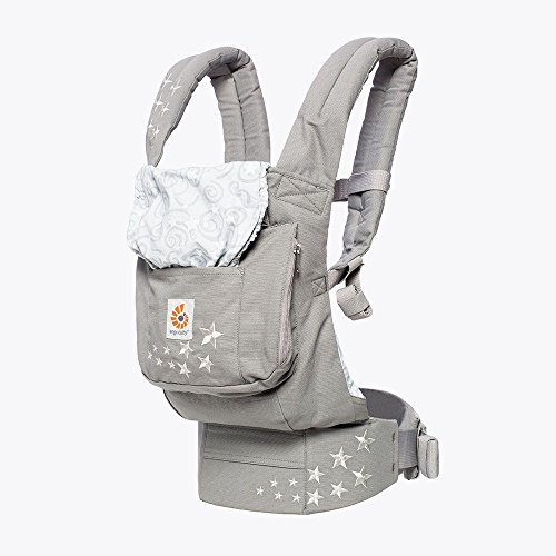 Ergobaby Original Award Winning Ergonomic Multi-Position Baby Carrier with Lumbar Support, Storage Pocket, Galaxy Grey