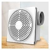 Ventilador Extractor Ventilador de techo para la cocina y el baño Fino silencioso Ventilador de escape con la válvula de...